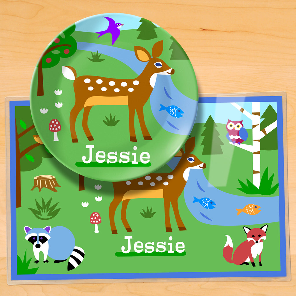 Camping Trip Personalized Kids Mealtime Plateset by Olive Kids