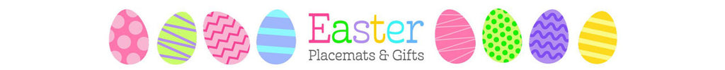 Kids Custom Easter Gift Children's Placemats Made In America