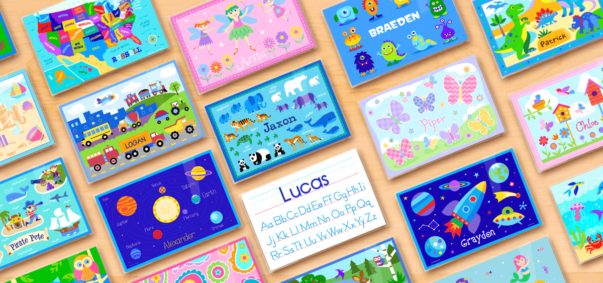 Personalized Kids Placemats from Art Appeel