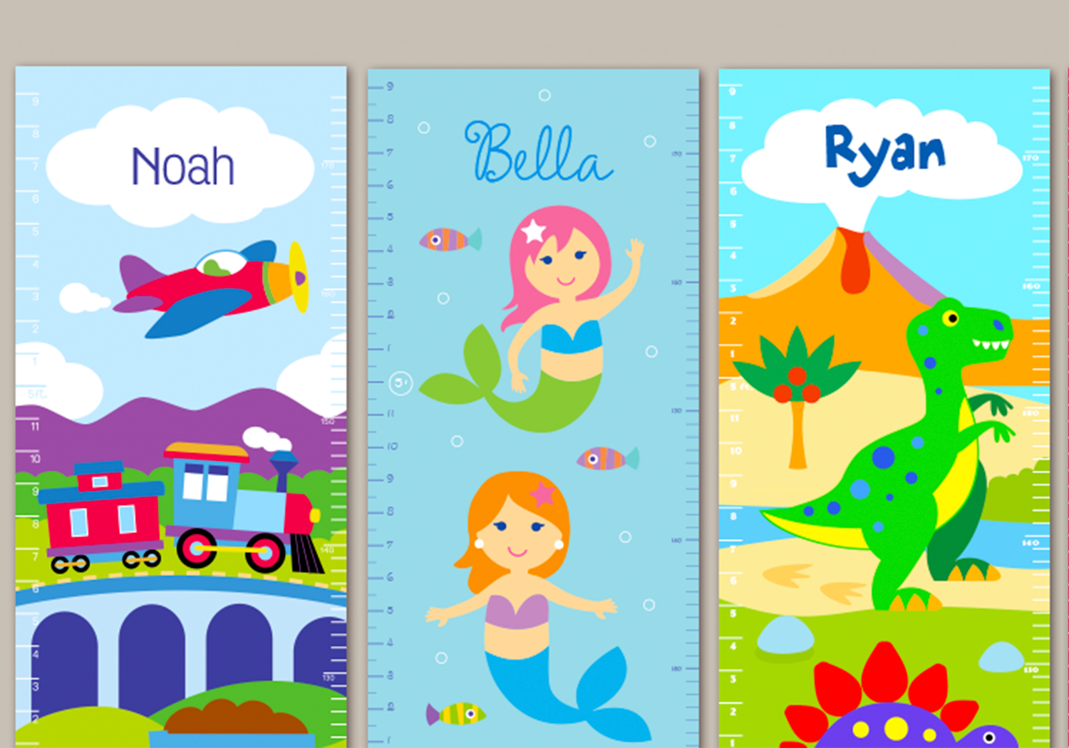 Kids Growth Chart Personalized With Name