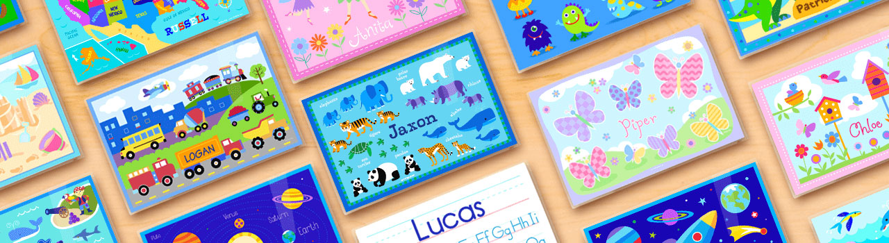 Children's Custom Name Mats Made In America