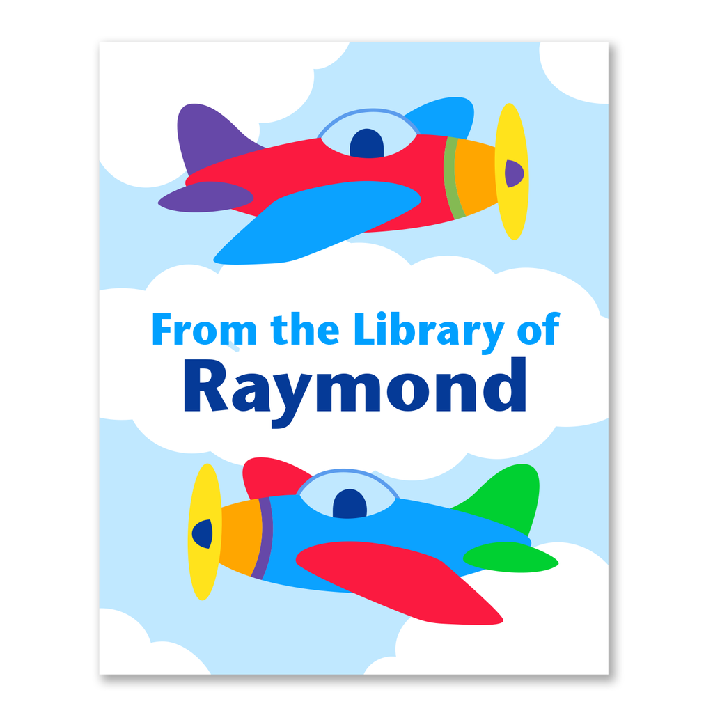 Airplanes Personalized Bookplates
