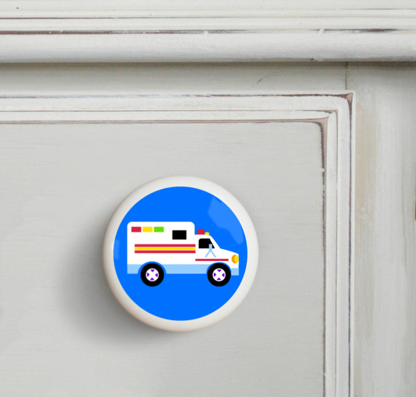 Ambulance Kids Drawer Knob
