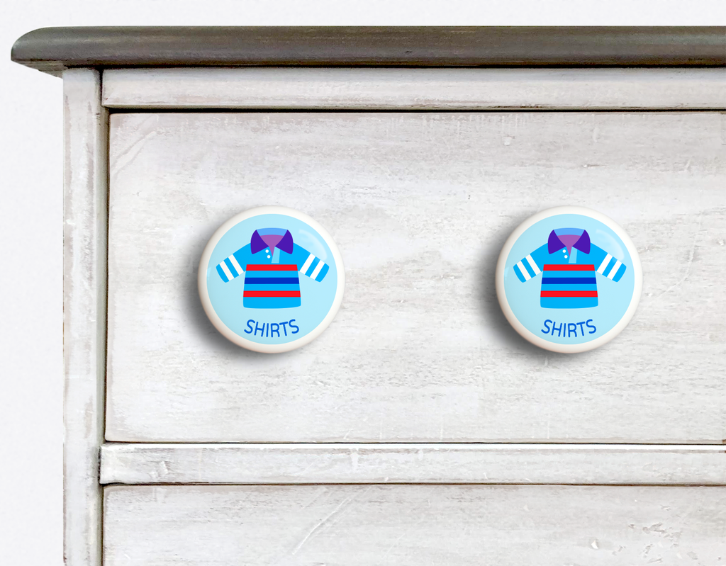 Dresserz Boy's Shirts Drawer Knobs - Set of 2