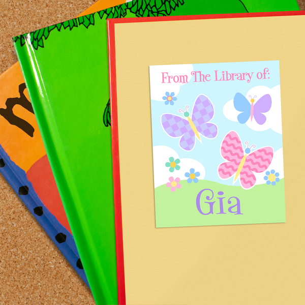 Butterfly Garden Personalized Bookplates