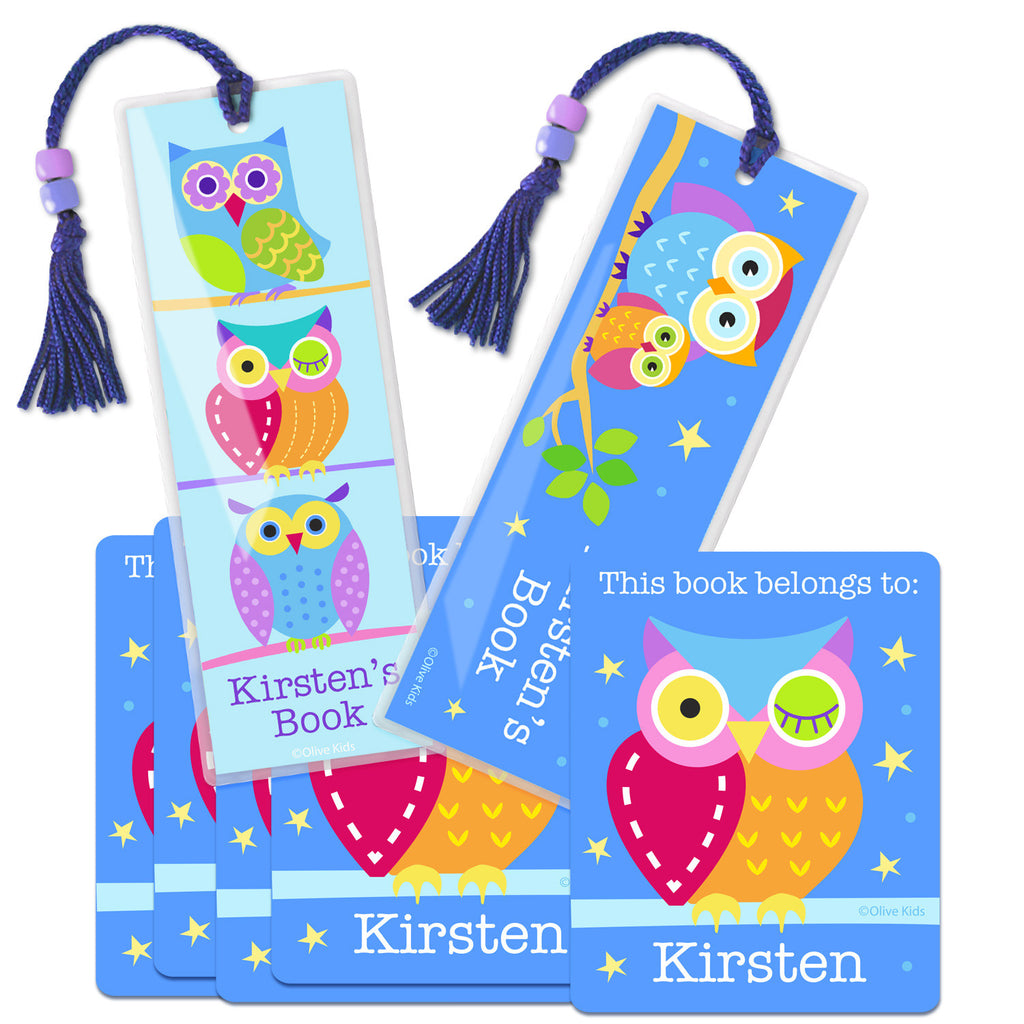 Owls Personalized Reader Kit by Olive Kids