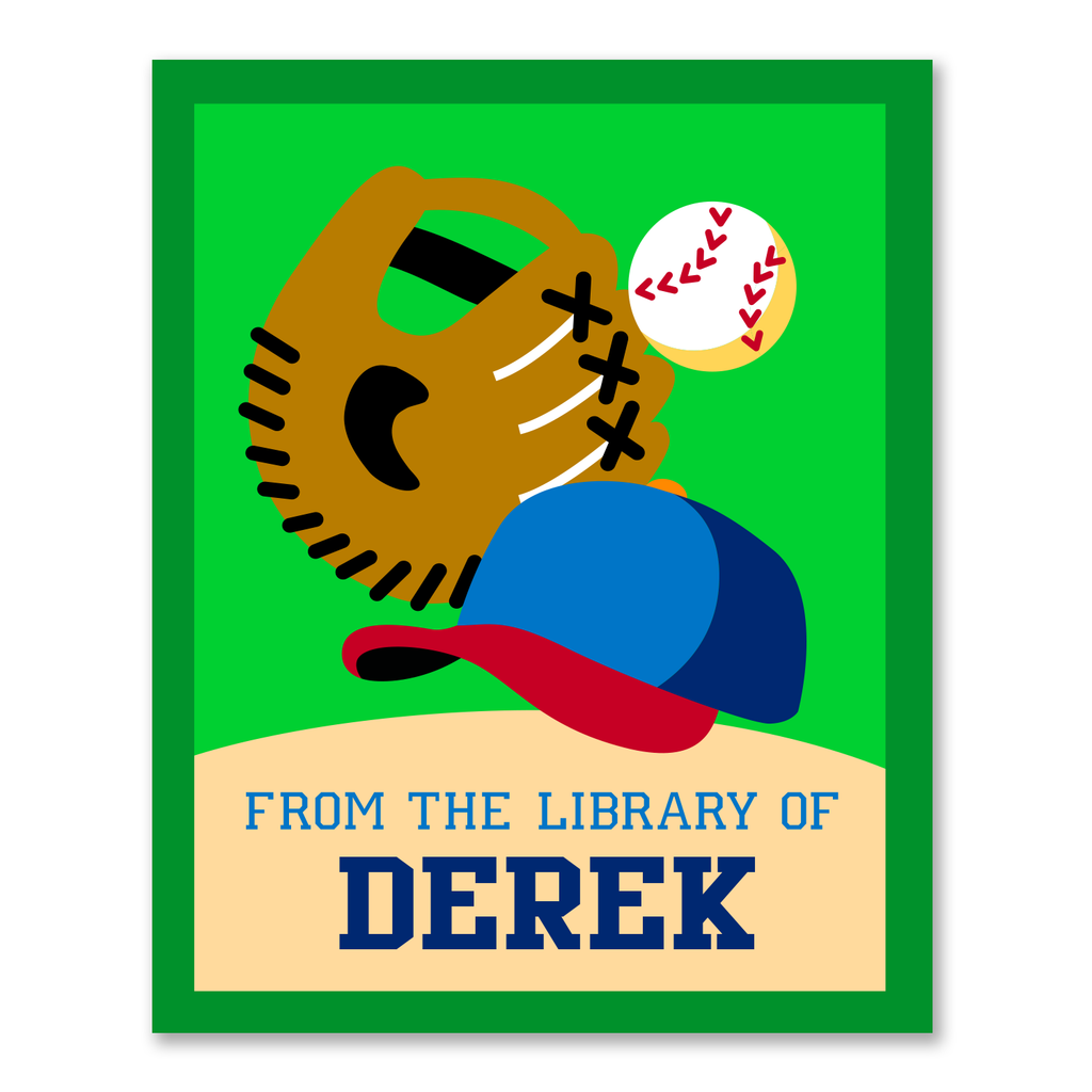 Baseball Personalized Bookplates