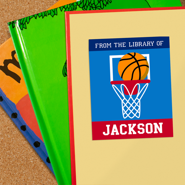 Basketball Personalized Bookplates