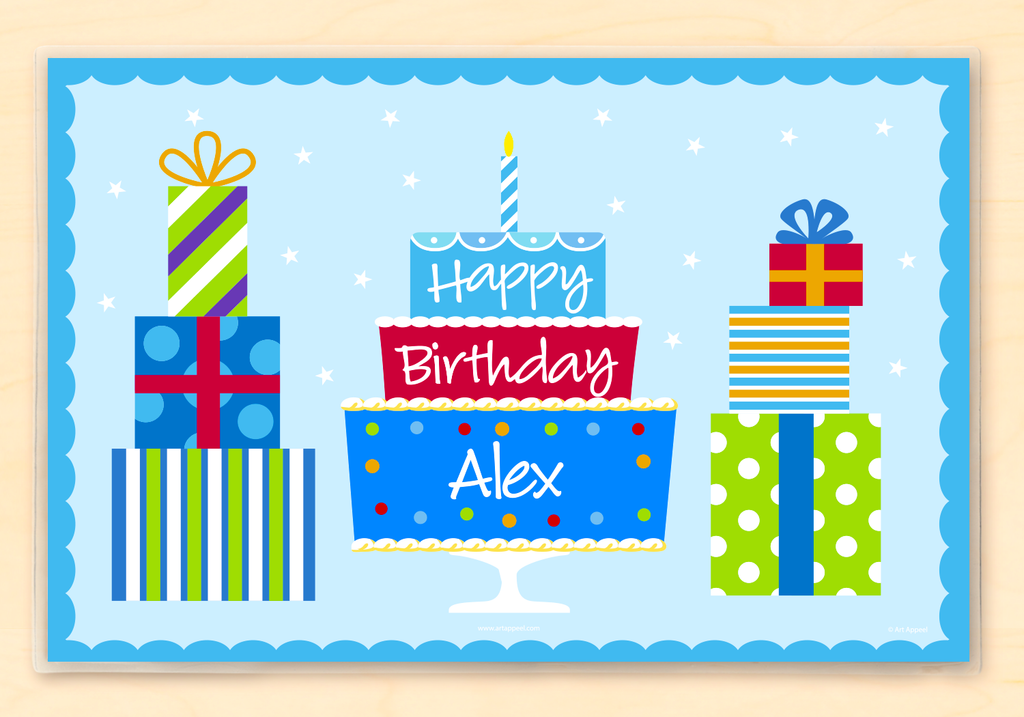 Boys Birthday Personalized Kids Placemat