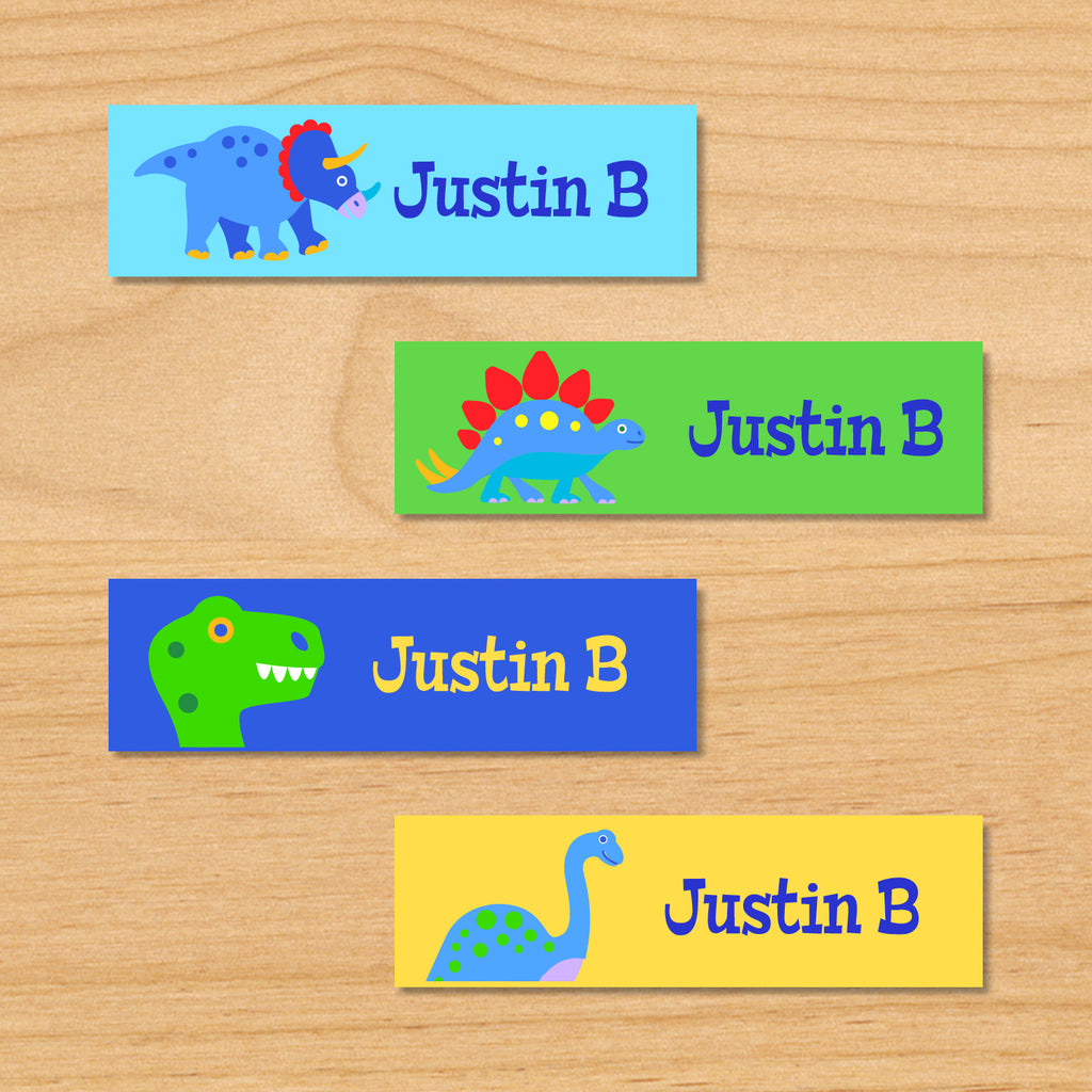 Dinosaur Land Personalized Mini Kids Waterproof Labels