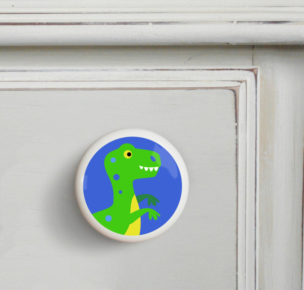 T-Rex - Dinosaur Land Small Ceramics Kids Drawer Knob by Olive Kids from Art Appeel