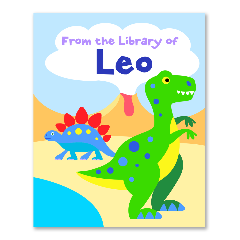 Dinosaurs Personalized Bookplates