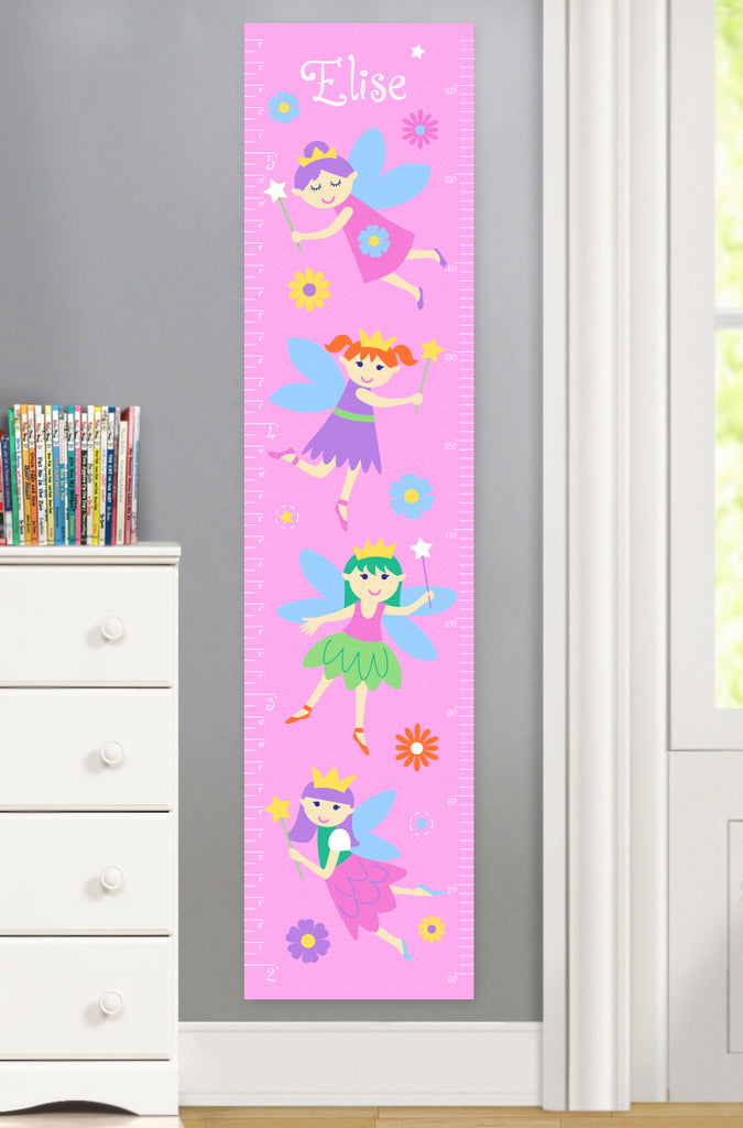Canvas Growth Chart with Fairy Princesses