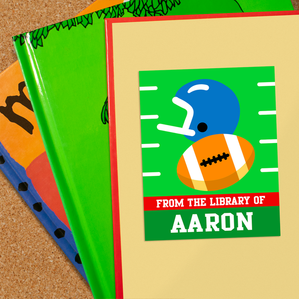 Football Personalized Bookplates