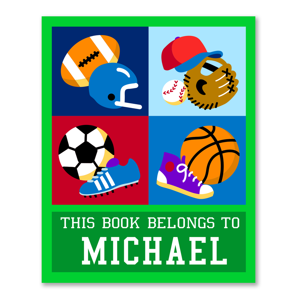 Sports Personalized Bookplates