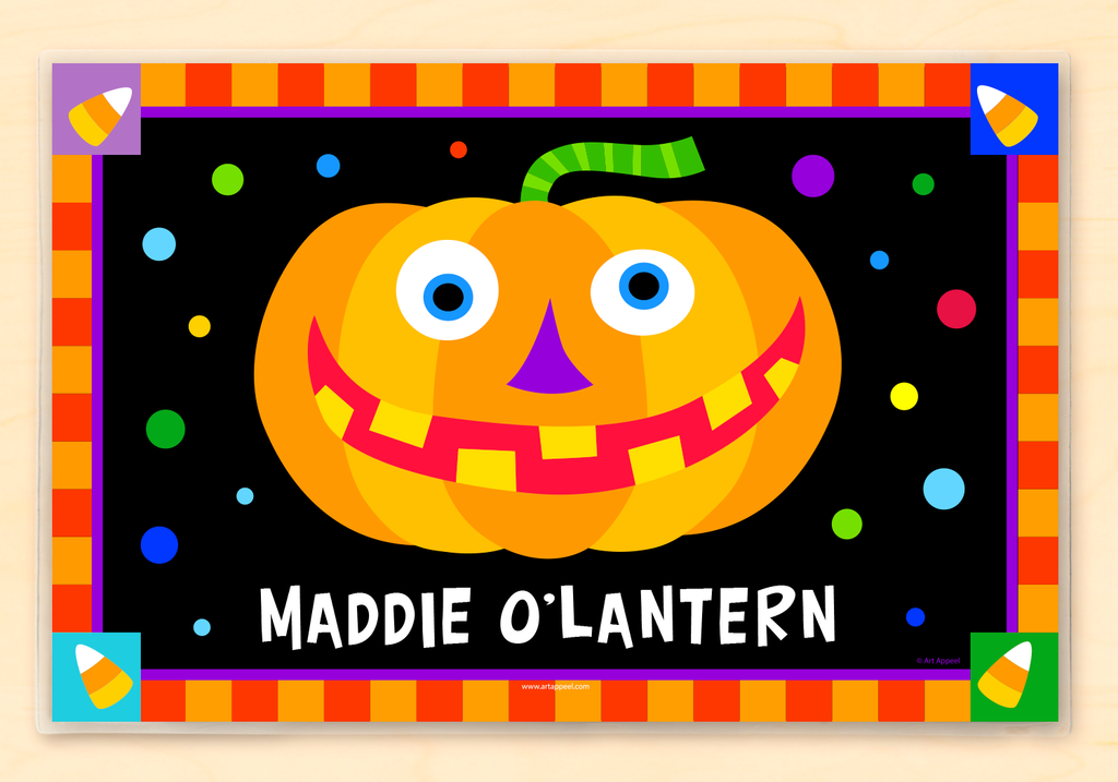 Halloween Jack O'Lantern Pumpkin Personalized Kids Placemat