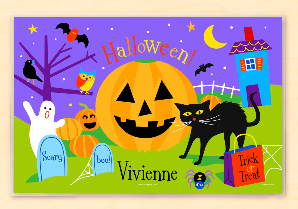 Halloween Pumpkin Personalized Kids Placemat