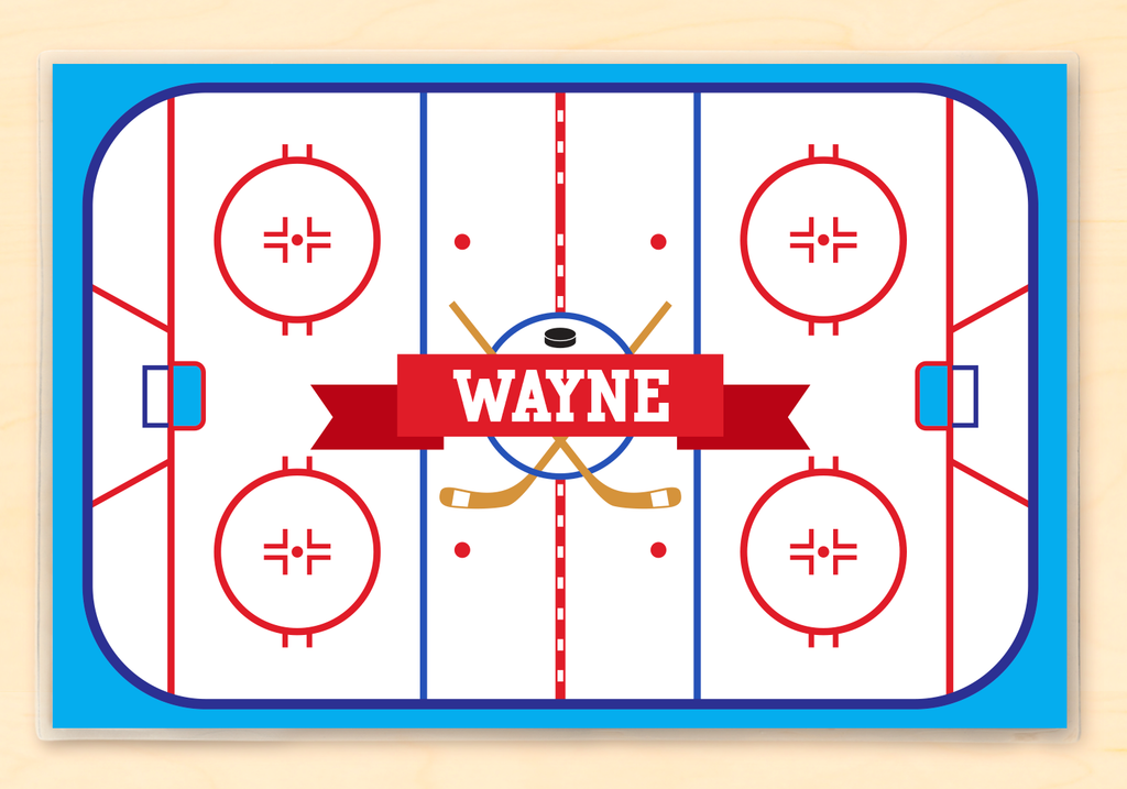 Hockey Rink Personalized Kids Placemat