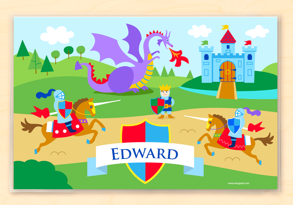 Good Knight Personalized Kids Placemat