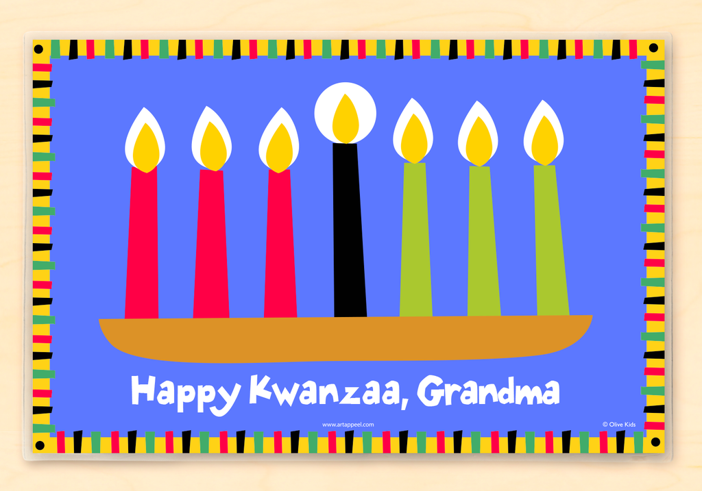 Kwanzaa Personalized Kids Placemat