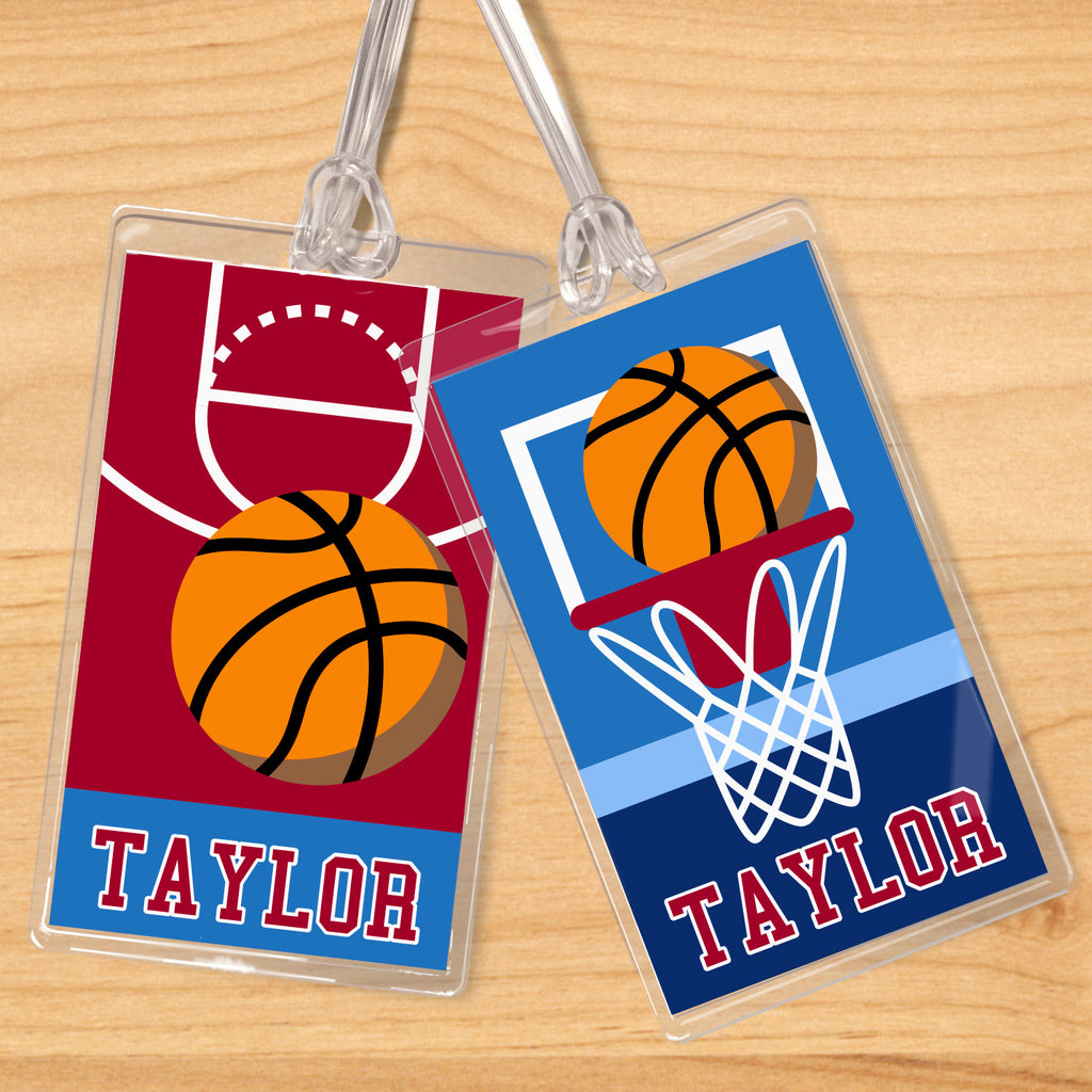 Basketball Boys Personalized Kids Name Tag Set by Olive Kids