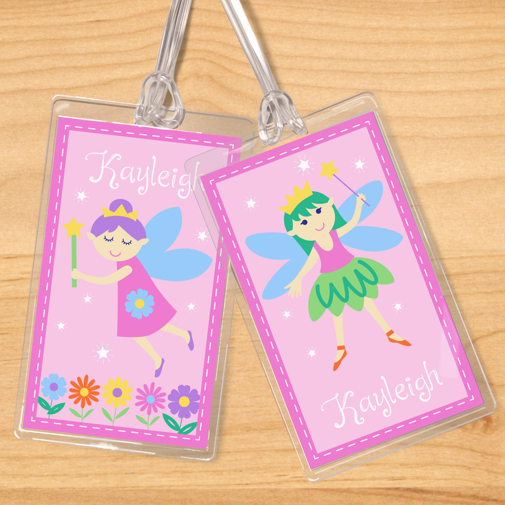 Fairy Princess (Light Skin) Personalized Kids Name Tag Set by Olive Kids