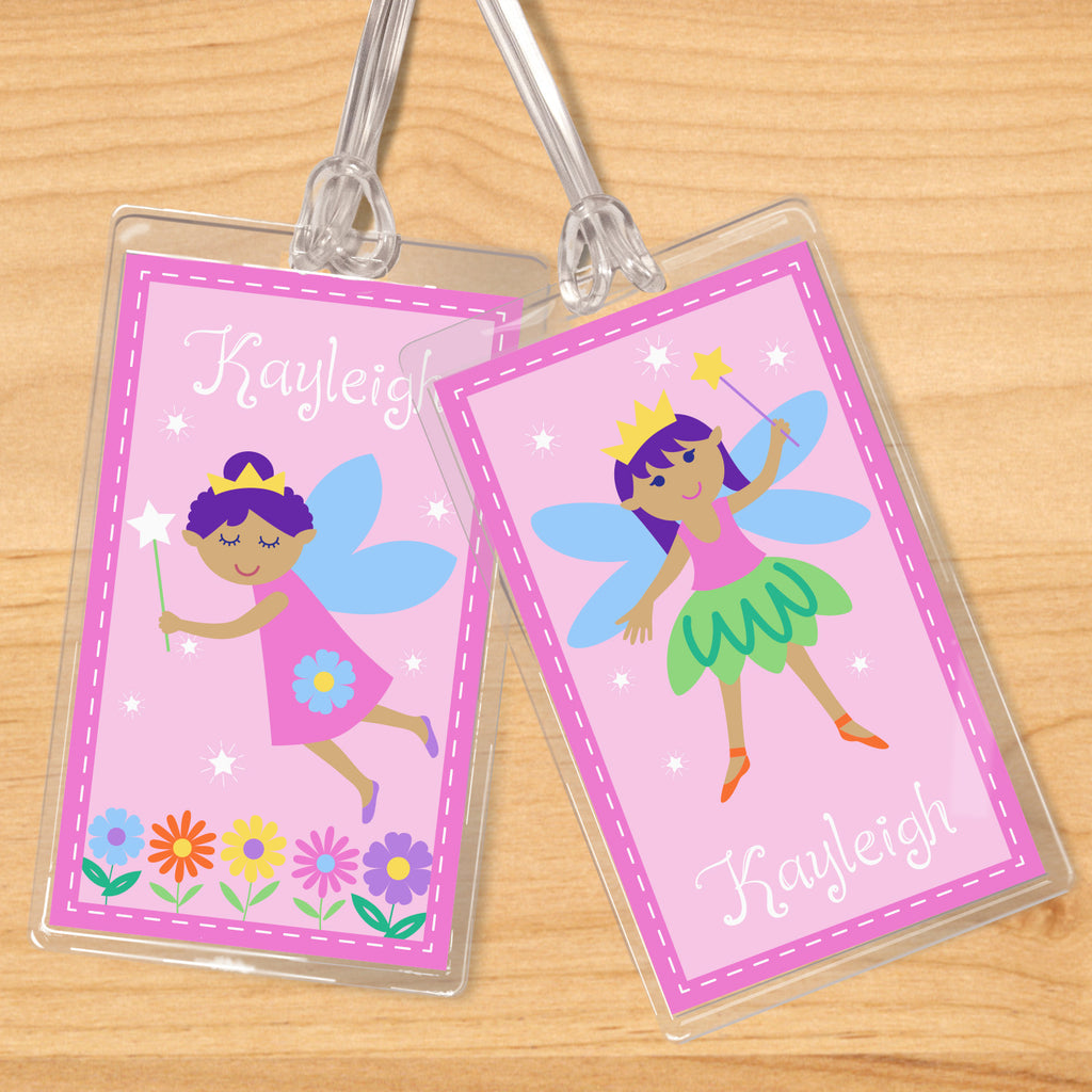 Fairy Princess (Dark Skin) Personalized Kids Name Tag Set by Olive Kids