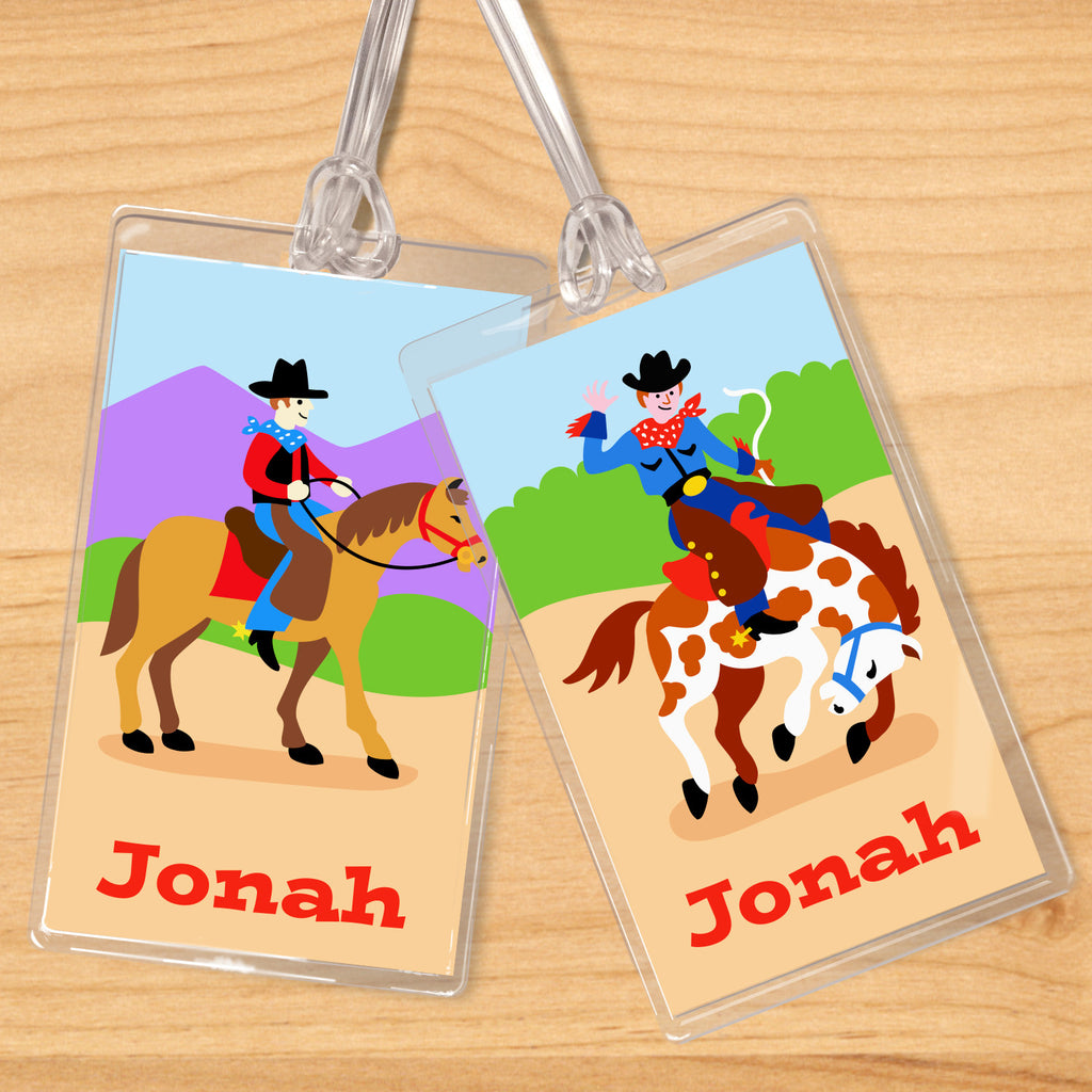 Ride 'em Personalized Kids Name Tag Set by Olive Kids