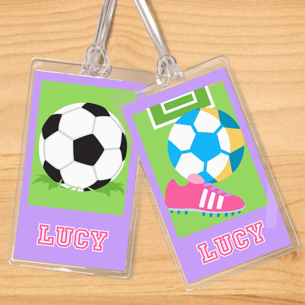 Soccer Girls Personalized Kids Name Tag Set by Olive Kids