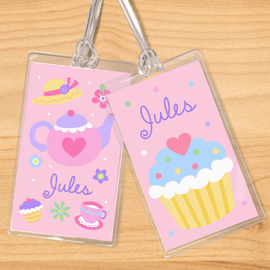 Tea Party Personalized Kids Name Tag Set by Olive Kids