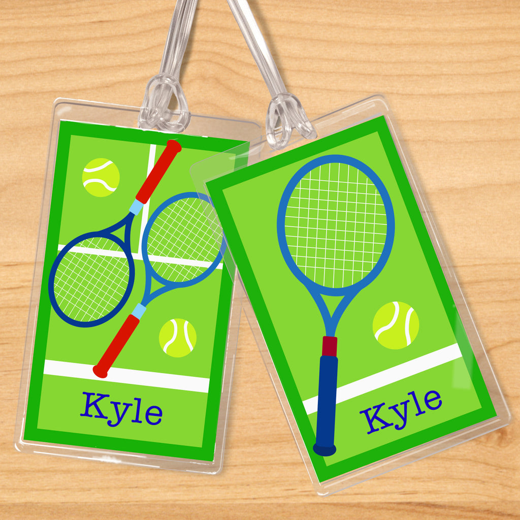 Tennis Boys Personalized Kids Name Tag Set by Olive Kids