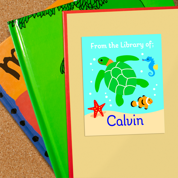 Ocean Personalized Bookplates