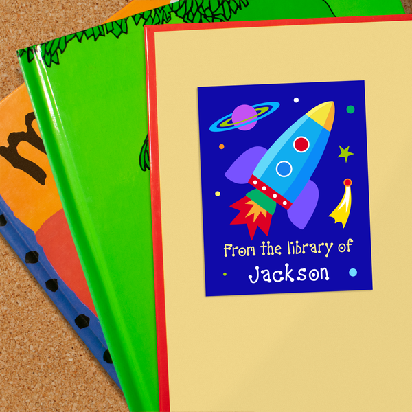 Outer Space Personalized Bookplates