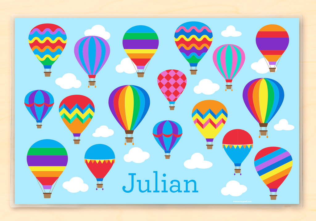 Hot Air Balloons Personalized Kids Placemat