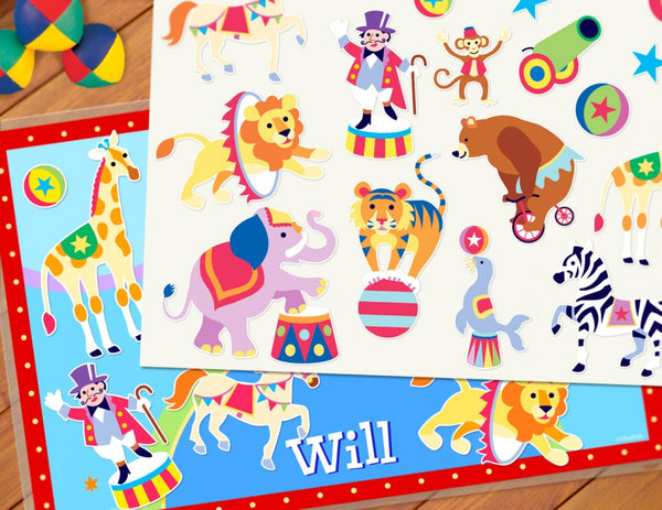 Big Top Personalized Kids Playmat