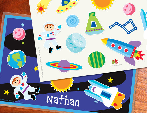 Out of This World Personalized Kids Playmat