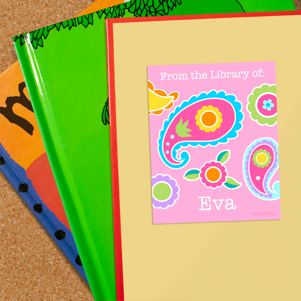 Paisley Personalized Bookplates