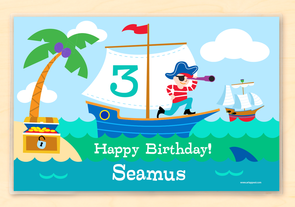 Pirates Birthday Personalized Kids Placemat