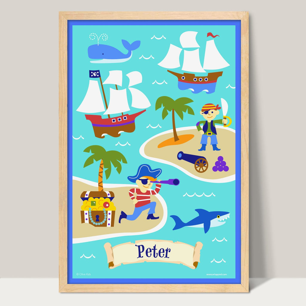 Pirates Personalized Kids Art Print