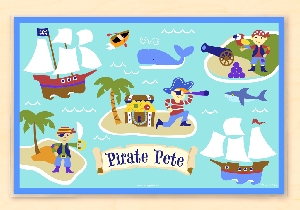 Pirates Personalized Kids Placemat by Olive Kids