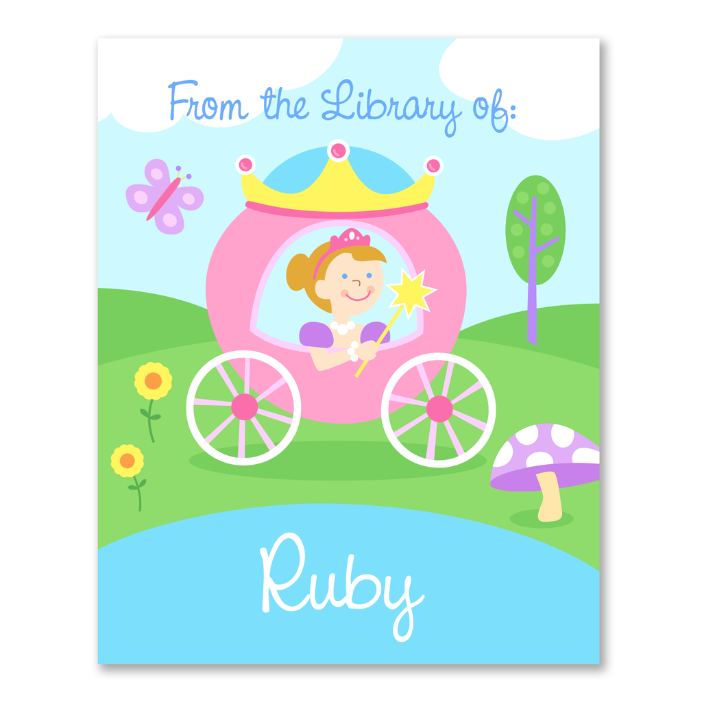 Princess Personalized Bookplates