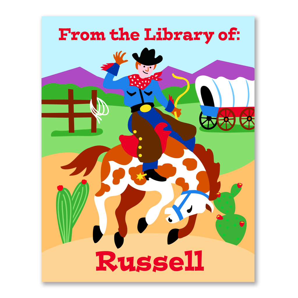 Cowboy Personalized Bookplates