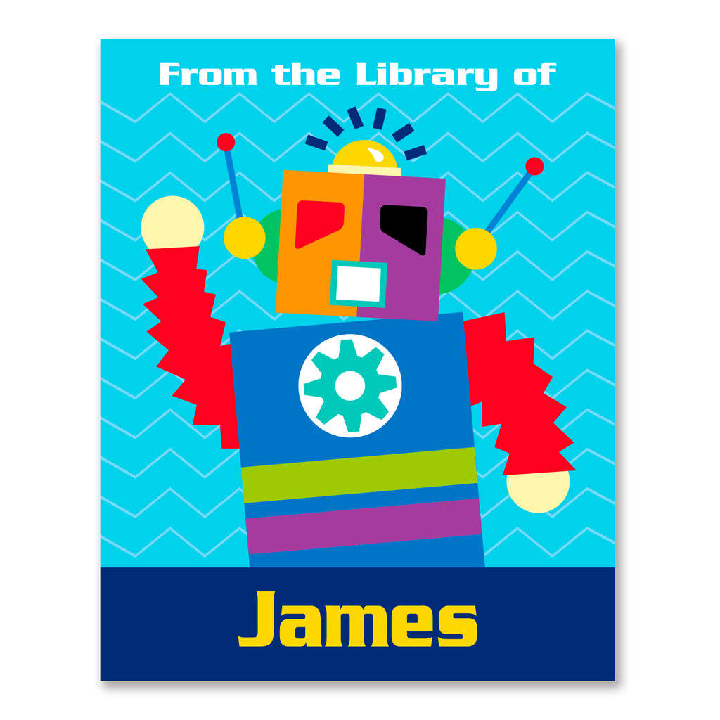 Robots Personalized Bookplates