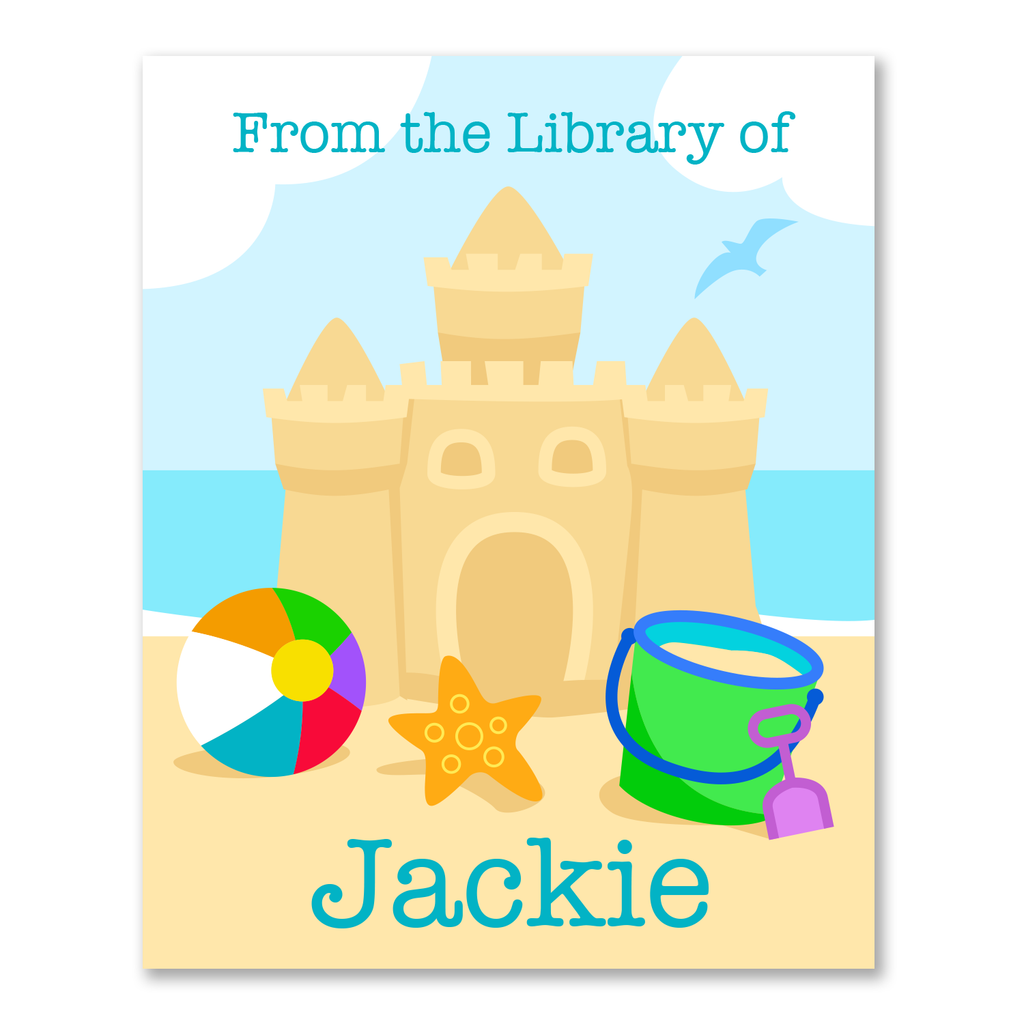 Summer Beach Personalized Bookplates