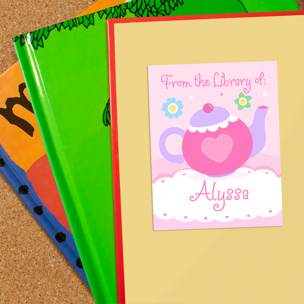 Tea Party Personalized Bookplates