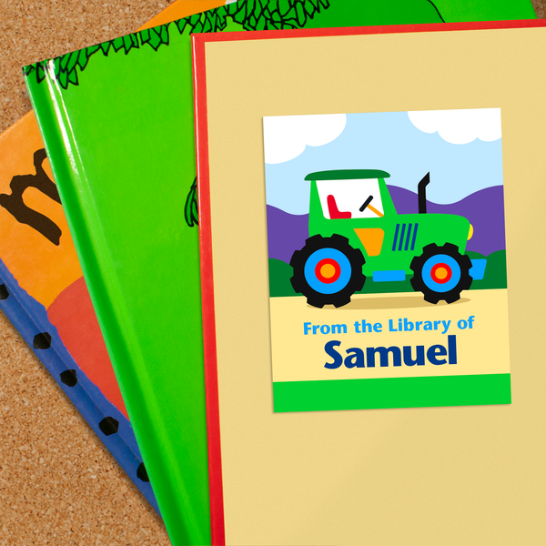 Tractors Personalized Bookplates