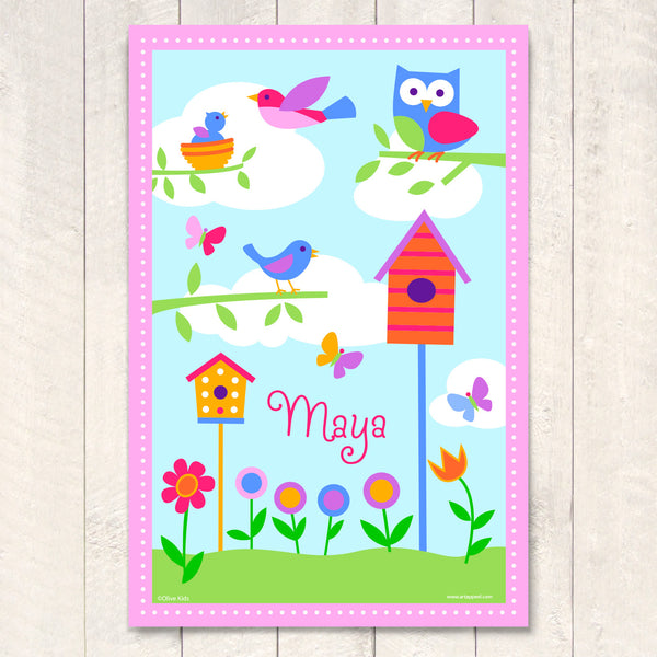 Bird Houses Personalized Art Print