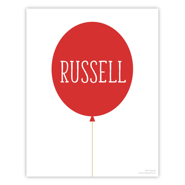 Balloon Personalized Art Print