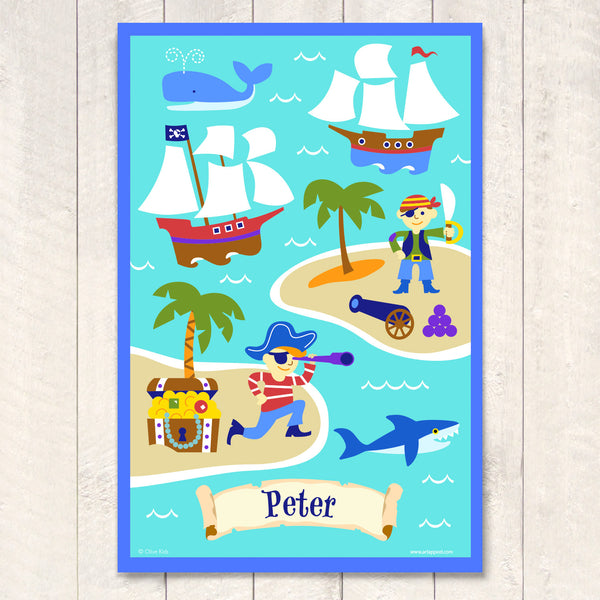 Pirates Personalized Art Print