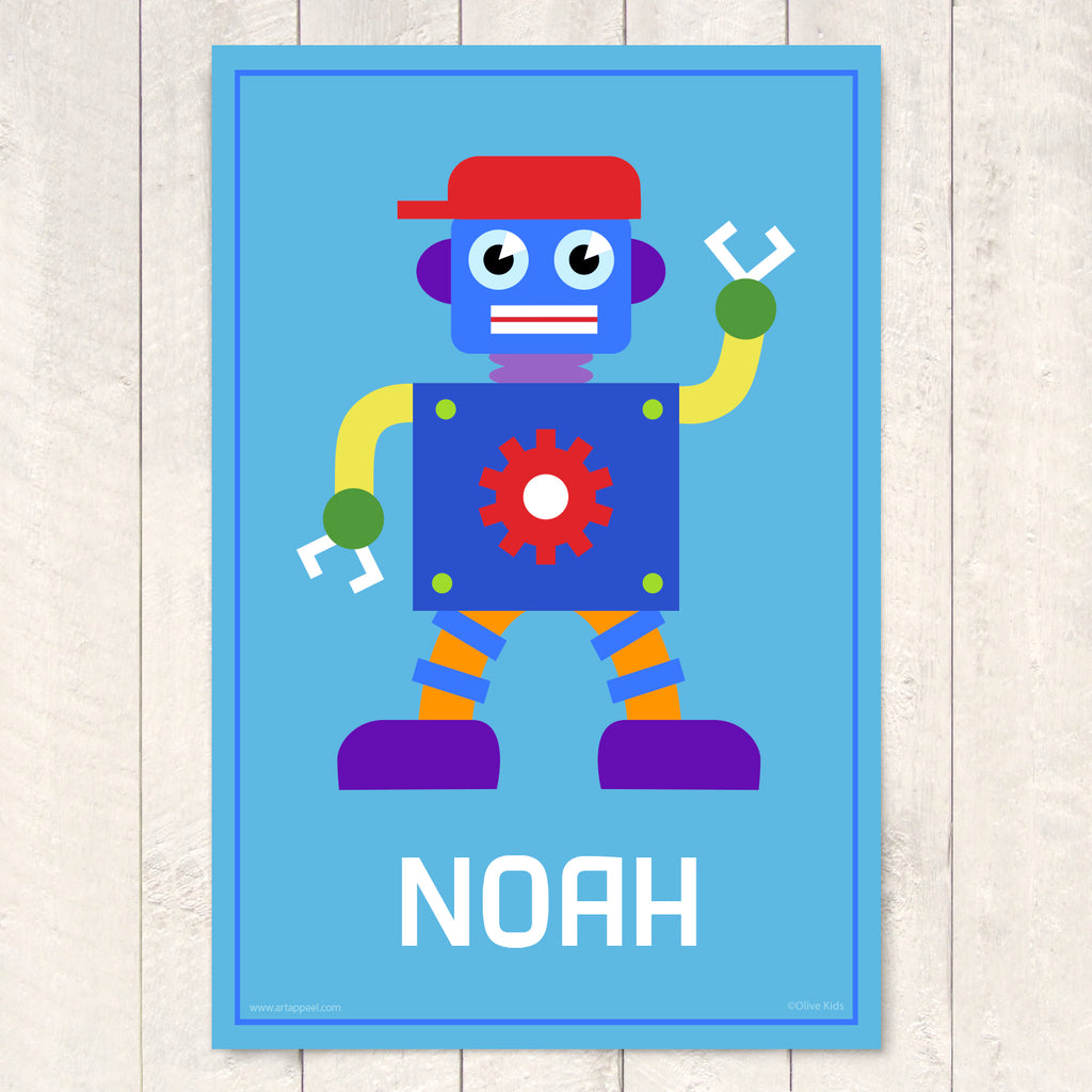Robot Personalized Art Print